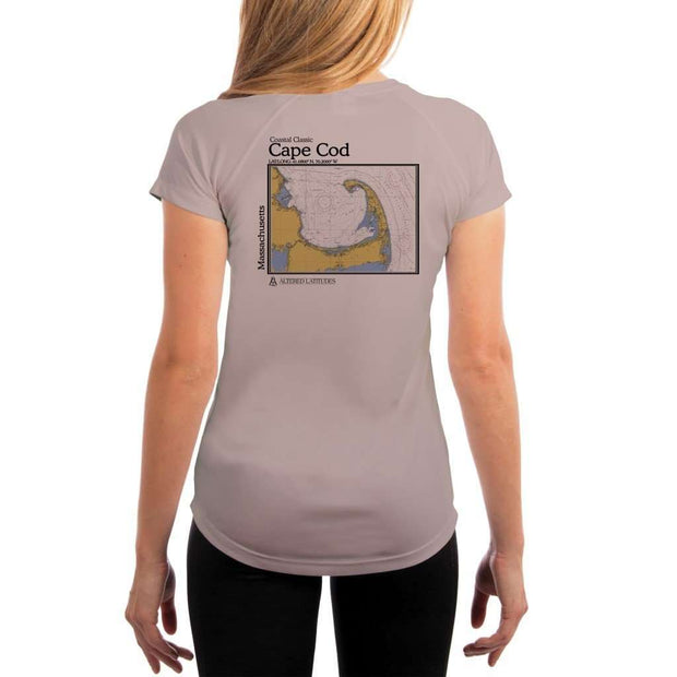 Coastal Classics Cape Cod Womens Upf 5+ Uv/sun Protection Performance T-Shirt Athletic Grey / X-Small Shirt