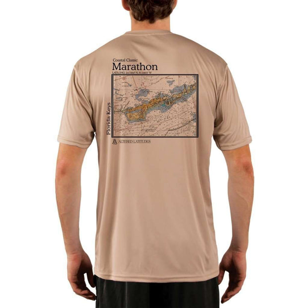 Coastal Classics Marathon Mens Upf 5+ Uv/sun Protection Performance T-Shirt Tan / X-Small Shirt