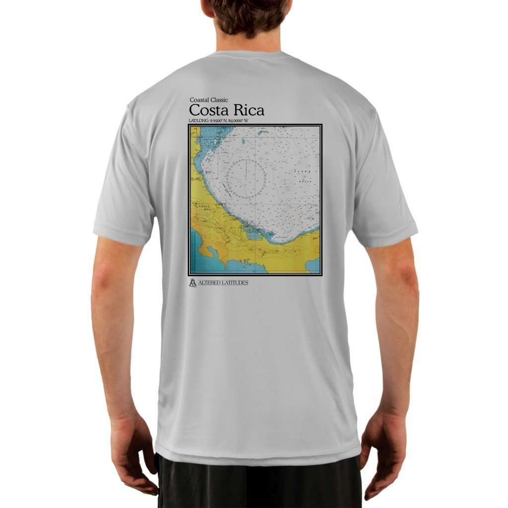 Coastal Classics Costa Rica Mens Upf 50+ Uv/sun Protection Performance T-Shirt Pearl Grey / X-Small Shirt