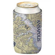 Altered Latitudes Annapolis Chart Standard Can Cooler (4-Pack)