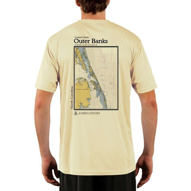 Coastal Classics Outer Banks Mens Upf 5+ Uv/sun Protection Performance T-Shirt Pale Yellow / X-Small Shirt