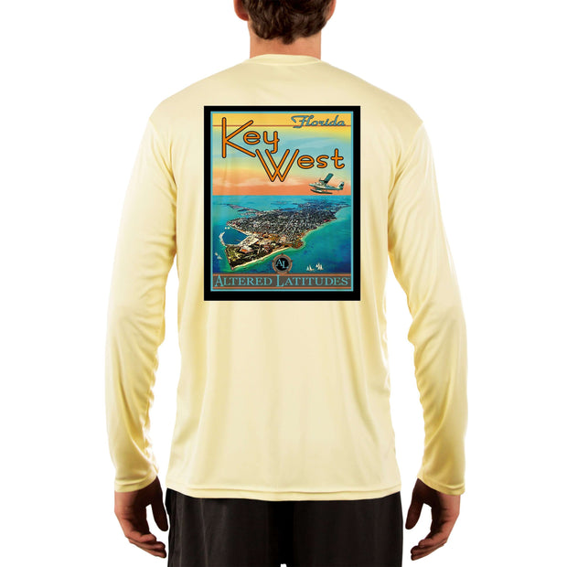 Vintage Destination Key West Men's UPF 50+ UV Sun Protection Long Sleeve T-Shirt