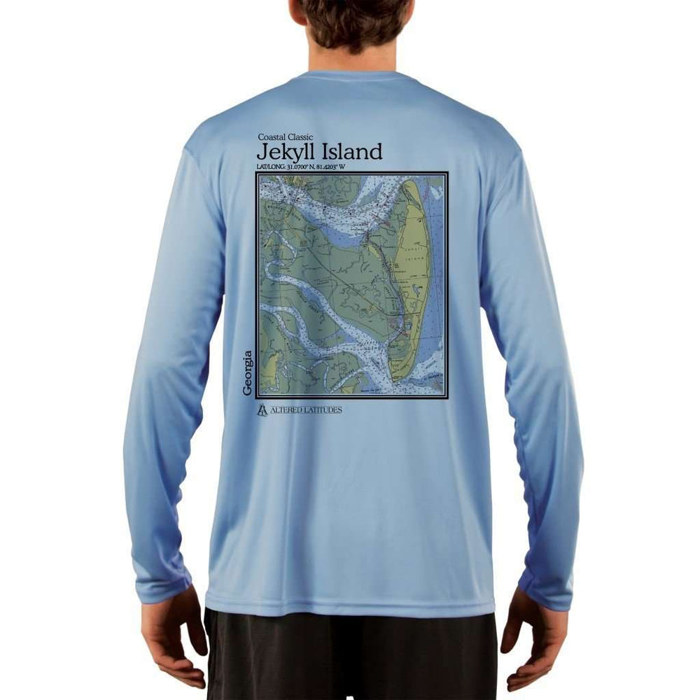 Coastal Classics Jekyll Island Mens Upf 5+ Uv/sun Protection Performance T-Shirt Columbia Blue / X-Small Shirt