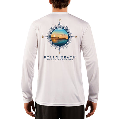 Compass Vintage Folly Beach Men's UPF 50+ Long Sleeve T-Shirt