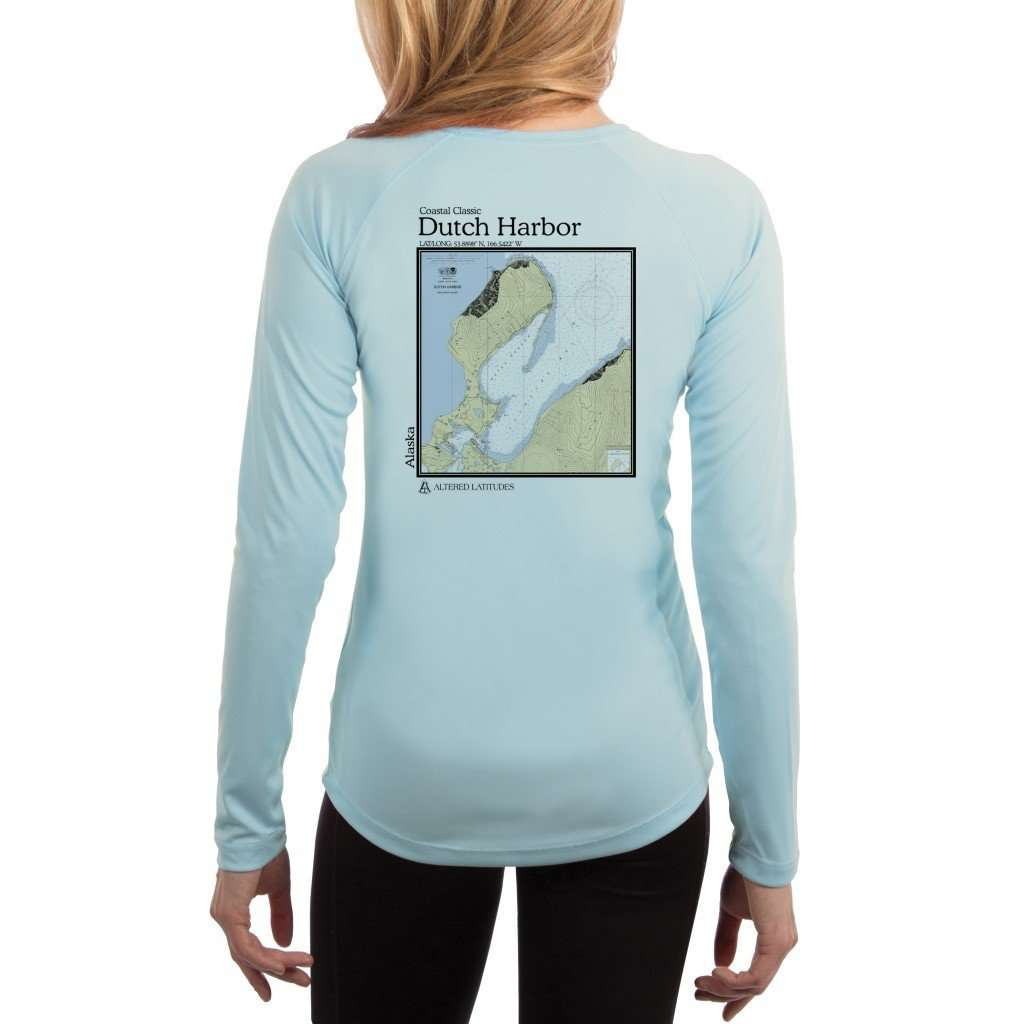 Coastal Classics Dutch Harbor Womens Upf 50+ Uv/sun Protection Performance T-Shirt Arctic Blue / X-Small Shirt