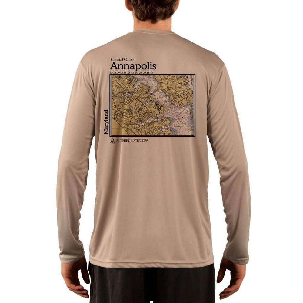 Coastal Classics Annapolis Mens Upf 5+ Uv/sun Protection Performance T-Shirt Tan / X-Small Shirt
