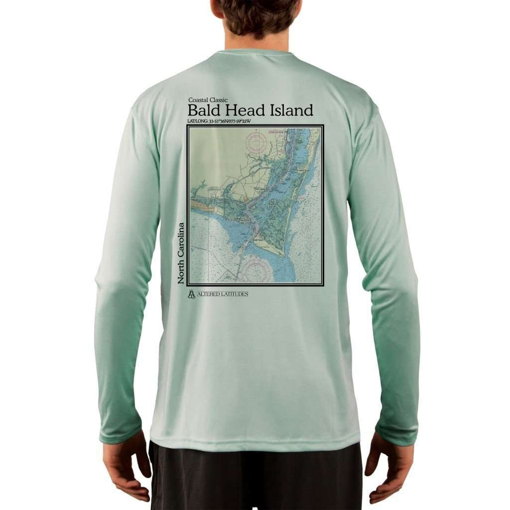 Coastal Classics Bald Head Island Mens Upf 5+ Uv/sun Protection Performance T-Shirt Seagrass / X-Small Shirt