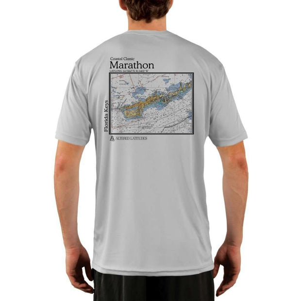 Coastal Classics Marathon Mens Upf 5+ Uv/sun Protection Performance T-Shirt Pearl Grey / X-Small Shirt