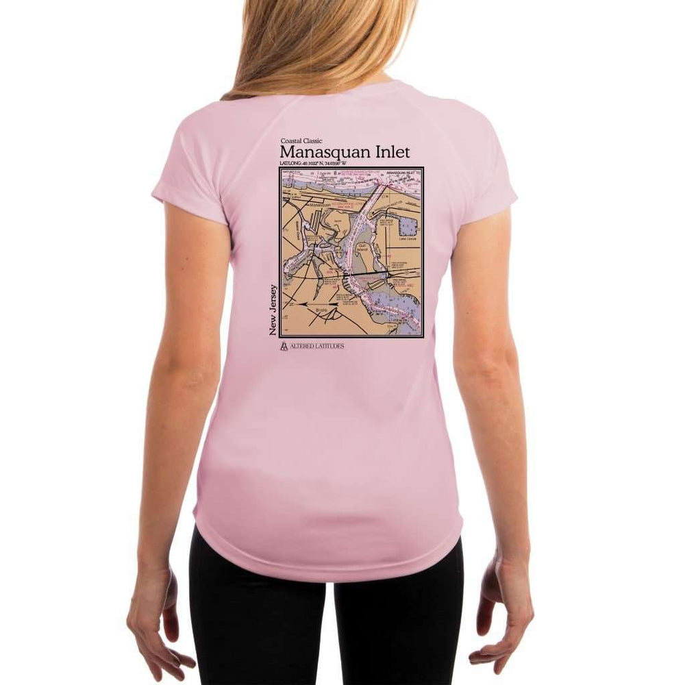 Coastal Classics Manasquan Inlet Womens Upf 5+ Uv/sun Protection Performance T-Shirt Pink Blossom / X-Small Shirt