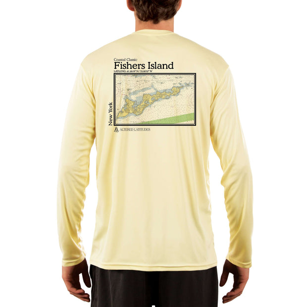 Coastal Classics Fishers Island Chart Men's UPF 50+ Long Sleeve T-Shirt