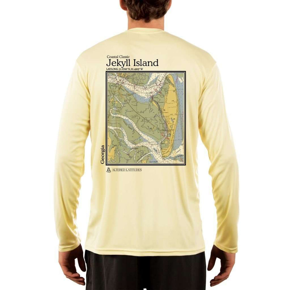 Coastal Classics Jekyll Island Mens Upf 5+ Uv/sun Protection Performance T-Shirt Pale Yellow / X-Small Shirt