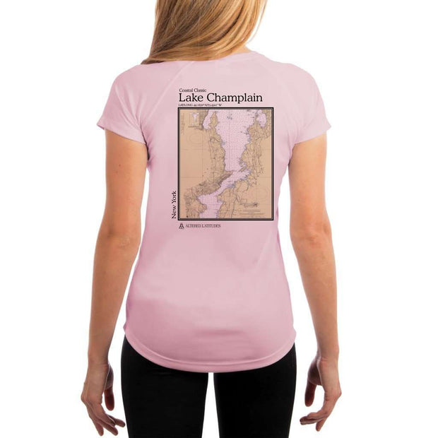 Coastal Classics Lake Champlain Womens Upf 5+ Uv/sun Protection Performance T-Shirt Pink Blossom / X-Small Shirt