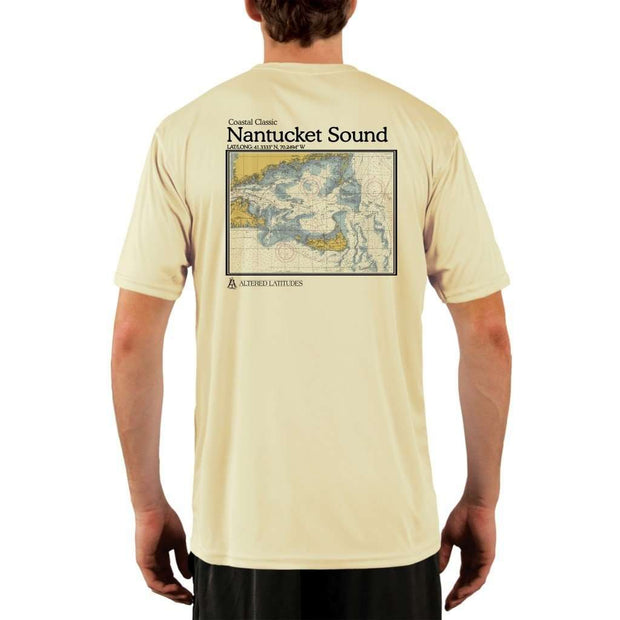 Coastal Classics Nantucket Sound Mens Upf 5+ Uv/sun Protection Performance T-Shirt Pale Yellow / X-Small Shirt