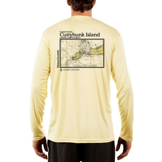 Coastal Classics Cuttyhunk Island Men's UPF 50+ UV/Sun Protection Performance T-shirt - Altered Latitudes