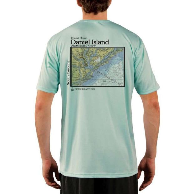 Coastal Classics Daniel Island Mens Upf 5+ Uv/sun Protection Performance T-Shirt Seagrass / X-Small Shirt