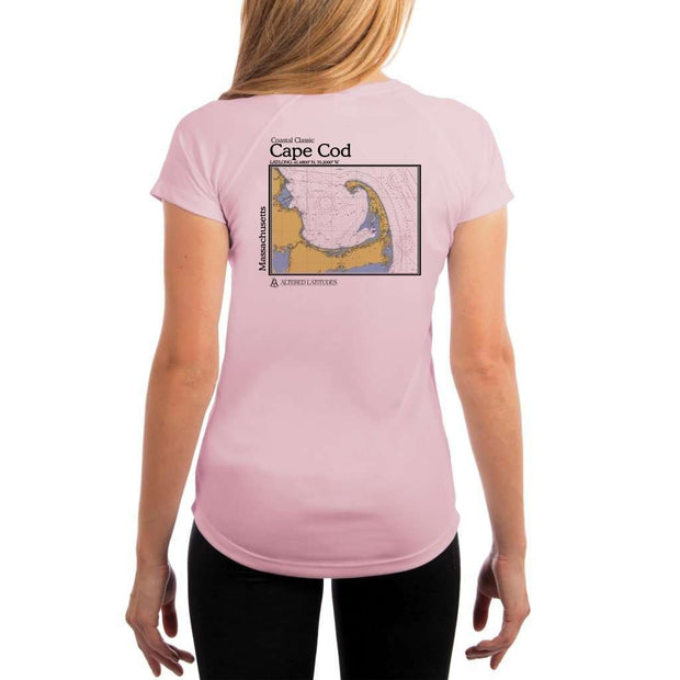 Coastal Classics Cape Cod Womens Upf 5+ Uv/sun Protection Performance T-Shirt Pink Blossom / X-Small Shirt