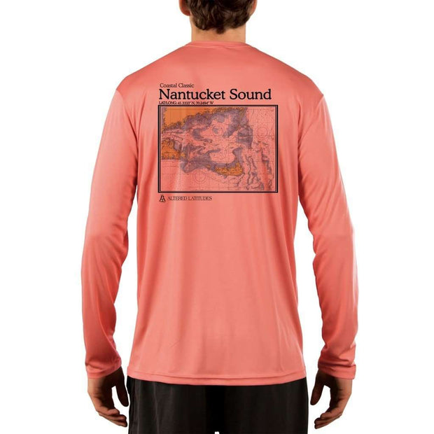 Coastal Classics Nantucket Sound Mens Upf 5+ Uv/sun Protection Performance T-Shirt Salmon / X-Small Shirt