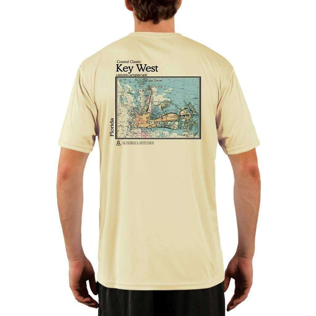 Coastal Classics Key West Mens Upf 5+ Uv/sun Protection Performance T-Shirt Pale Yellow / X-Small Shirt