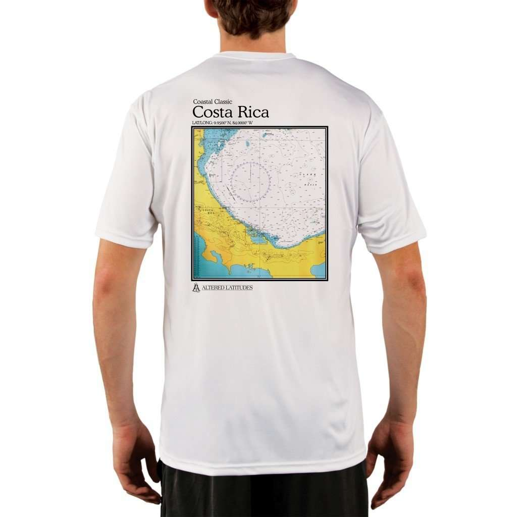 Coastal Classics Costa Rica Mens Upf 50+ Uv/sun Protection Performance T-Shirt White / X-Small Shirt
