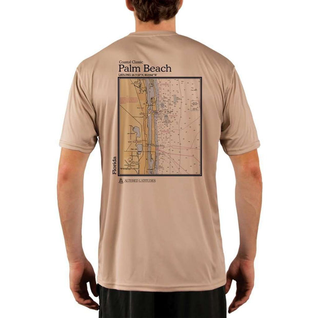 Coastal Classics Palm Beach Mens Upf 5+ Uv/sun Protection Performance T-Shirt Tan / X-Small Shirt