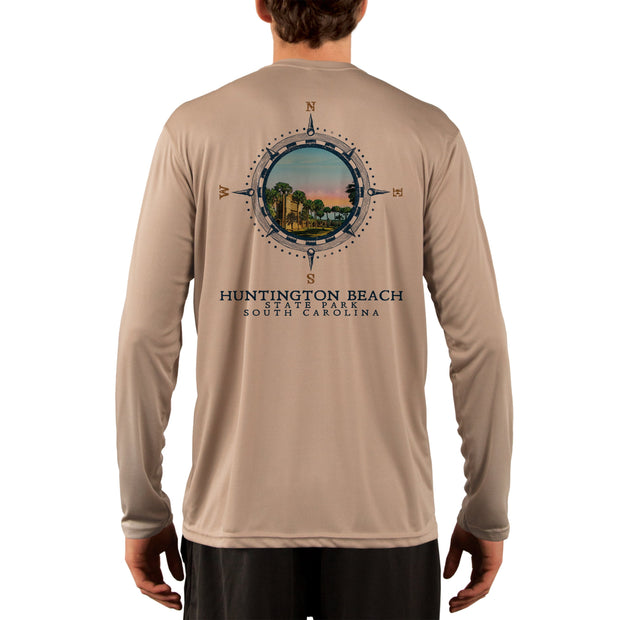 Compass Vintage Huntington Beach  Men's UPF 50+ Long Sleeve T-Shirt