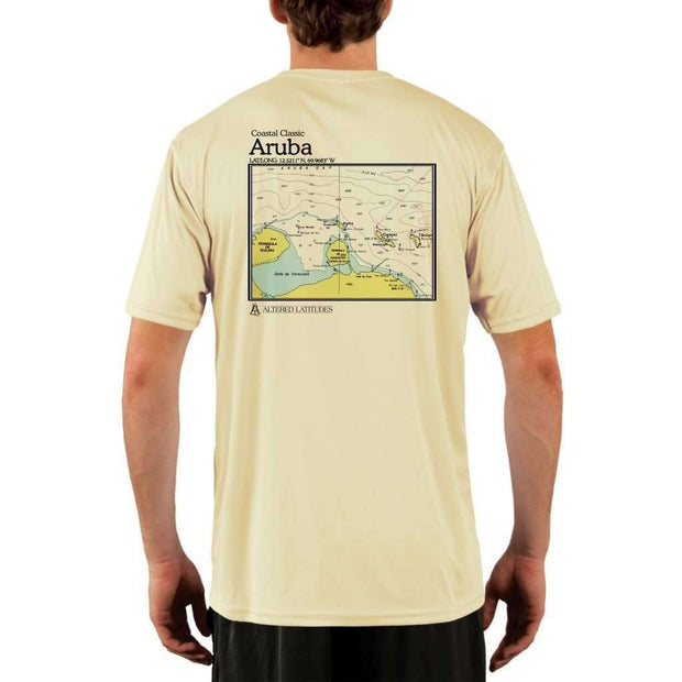 Coastal Classics Aruba Mens Upf 5+ Uv/sun Protection Performance T-Shirt Pale Yellow / X-Small Shirt