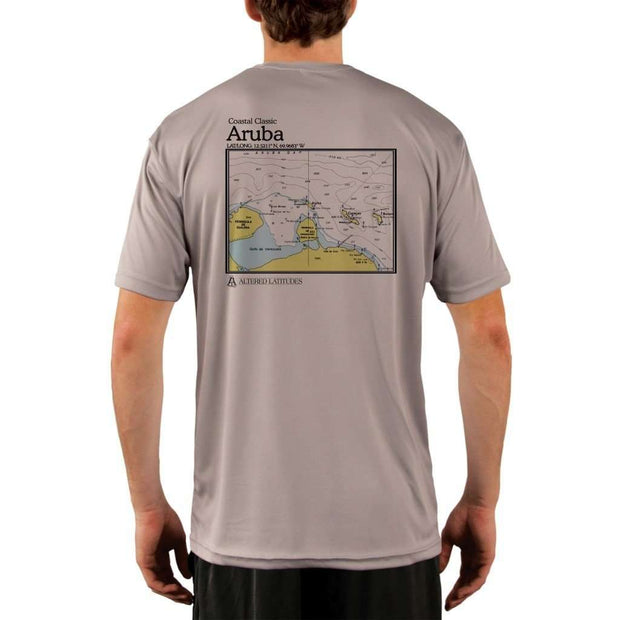 Coastal Classics Aruba Mens Upf 5+ Uv/sun Protection Performance T-Shirt Athletic Grey / X-Small Shirt