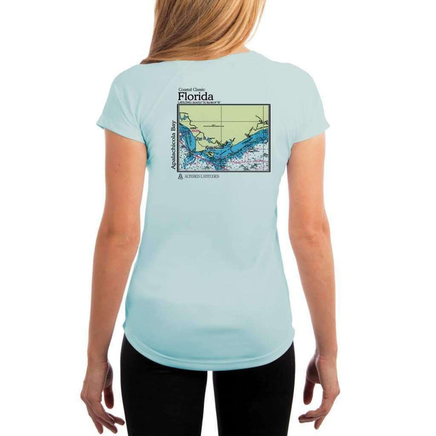 Coastal Classics Apalachicola Bay Womens Upf 5+ Uv/sun Protection Performance T-Shirt Arctic Blue / X-Small Shirt