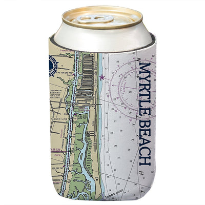 Altered Latitudes Myrtle Beach Chart Standard Can Cooler (4-Pack)