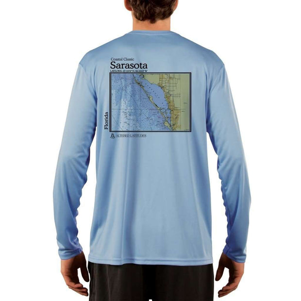 Coastal Classics Sarasota Mens Upf 5+ Uv/sun Protection Performance T-Shirt Columbia Blue / X-Small Shirt