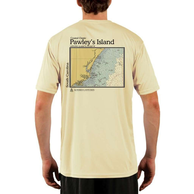 Coastal Classics Pawleys Island Mens Upf 5+ Uv/sun Protection Performance T-Shirt Pale Yellow / X-Small Shirt