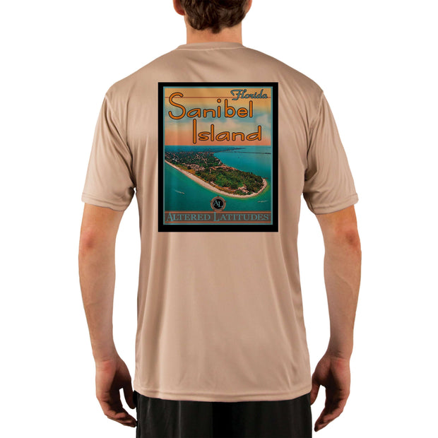 Vintage Destination Sanibel Island Men's UPF 5+ UV Sun Protection Short Sleeve T-shirt - Altered Latitudes