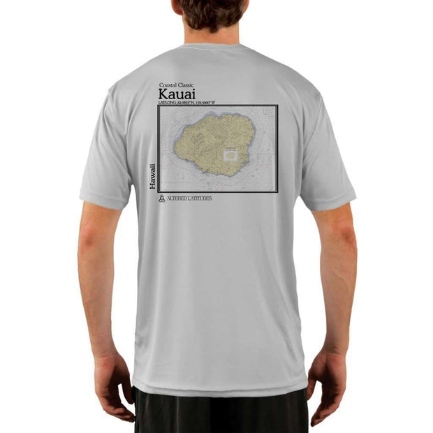 Coastal Classics Kauai Mens Upf 5+ Uv/sun Protection Performance T-Shirt Pearl Grey / X-Small Shirt
