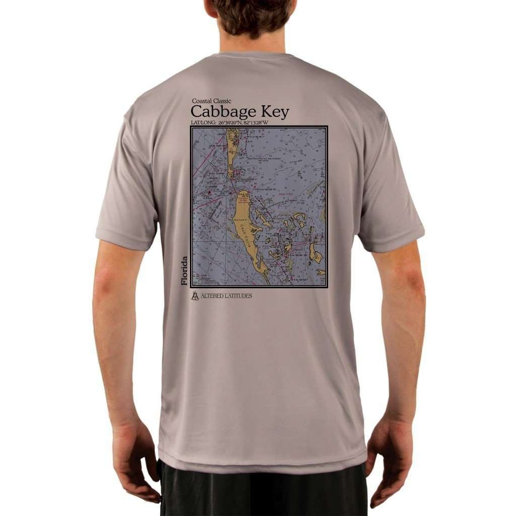Coastal Classics Cabbage Key Mens Upf 50+ Uv/sun Protection Performance T-Shirt Athletic Grey / X-Small Shirt