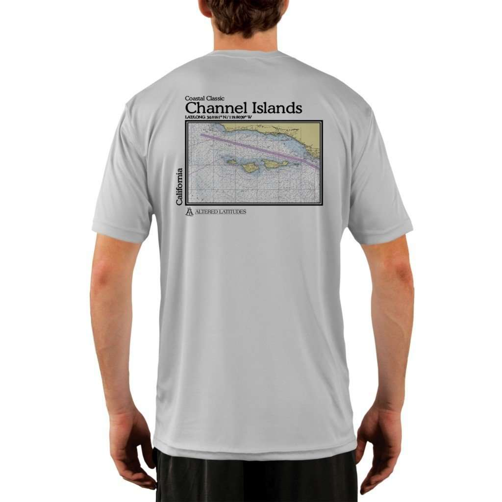 Coastal Classics Channel Islands Mens Upf 50+ Uv/sun Protection Performance T-Shirt Pearl Grey / X-Small Shirt