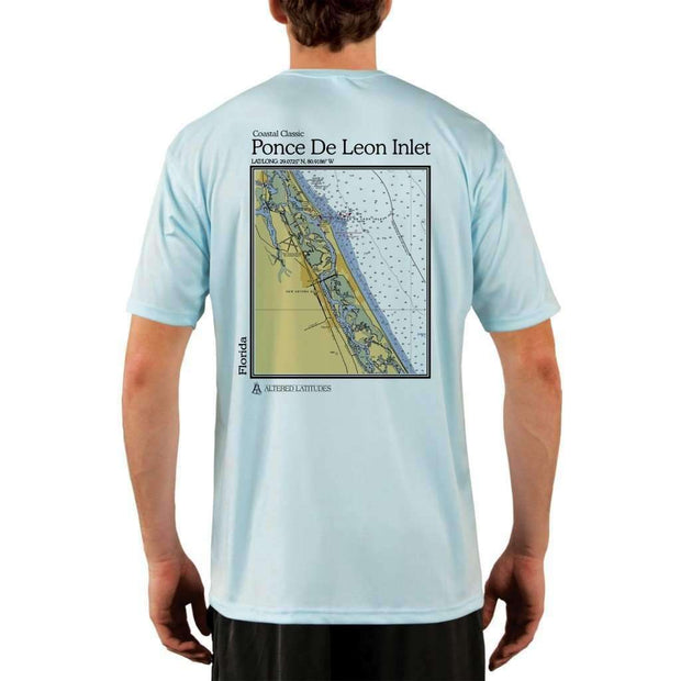 Coastal Classics Ponce De Leon Inlet Mens Upf 5+ Uv/sun Protection Performance T-Shirt Arctic Blue / X-Small Shirt