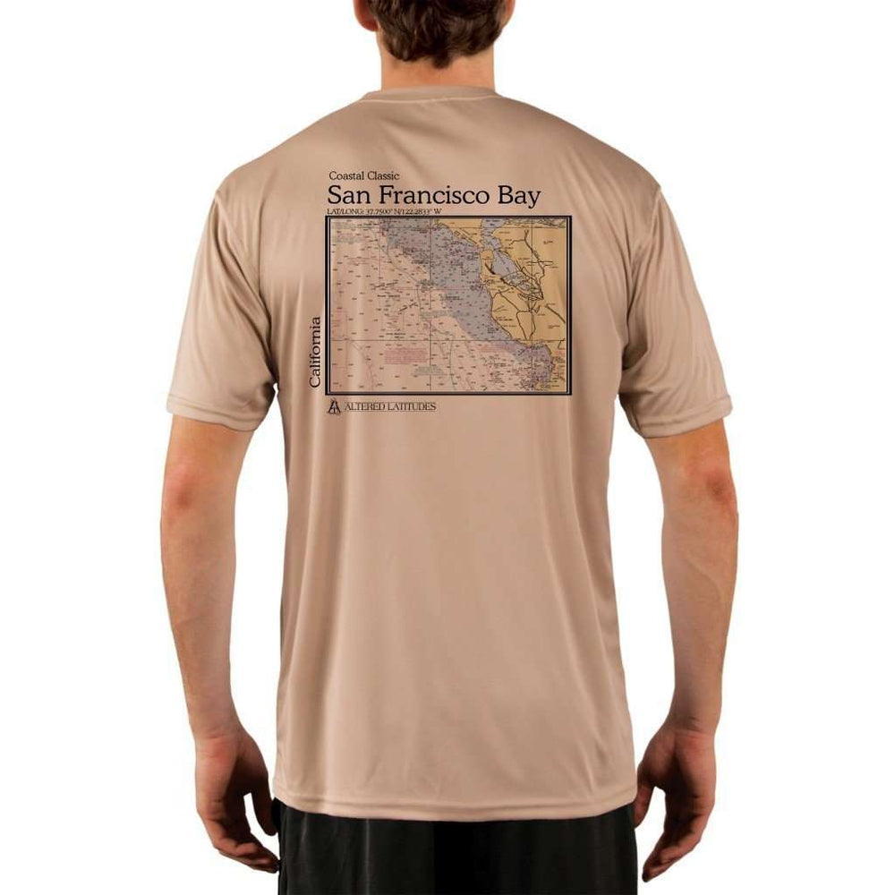 Coastal Classics San Francisco Bay Mens Upf 5+ Uv/sun Protection Performance T-Shirt Tan / X-Small Shirt