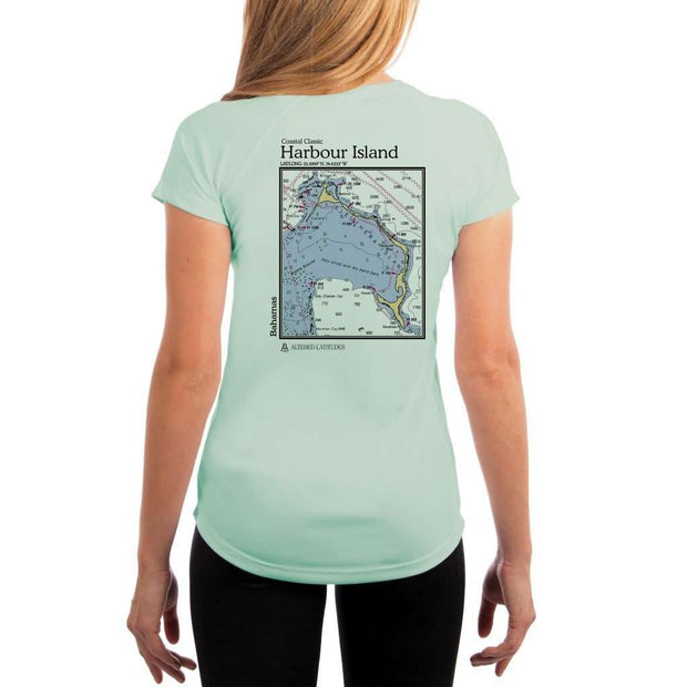 Coastal Classics Harbour Island Womens Upf 5+ Uv/sun Protection Performance T-Shirt Seagrass / X-Small Shirt