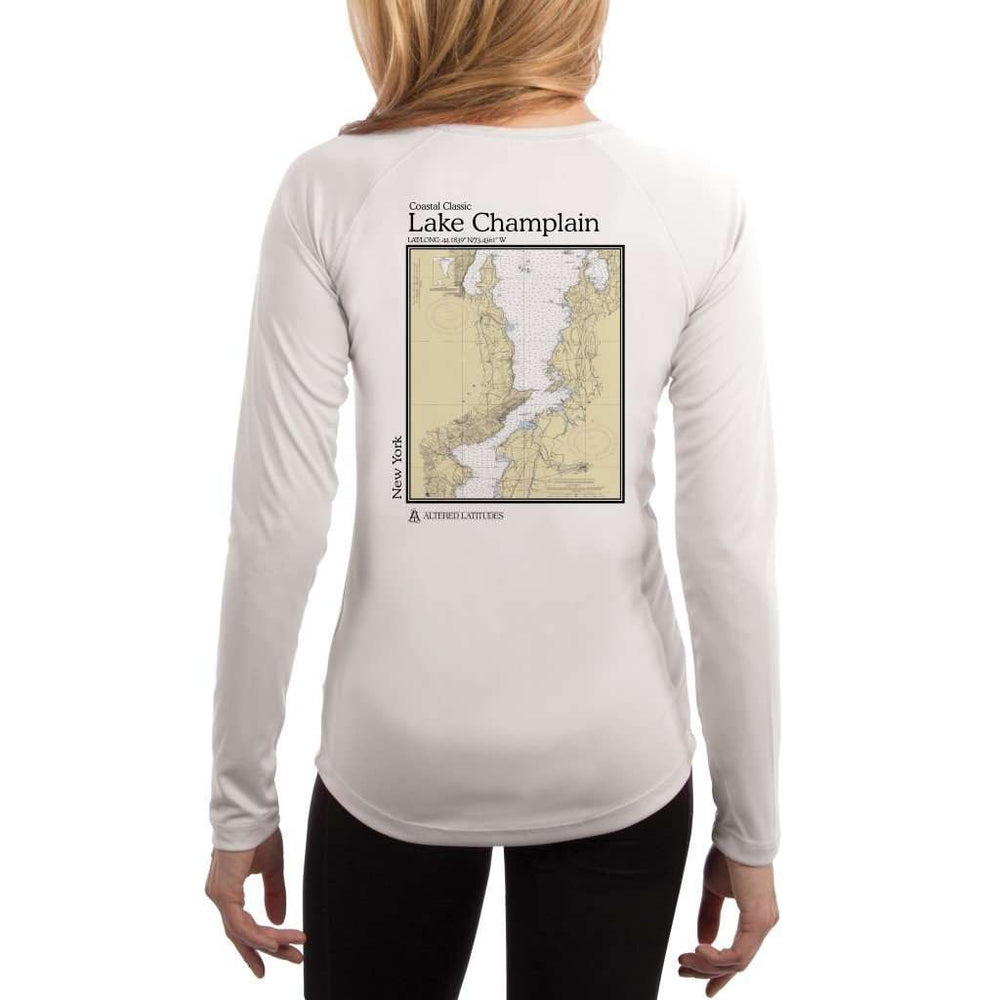 Coastal Classics Lake Champlain Womens Upf 5+ Uv/sun Protection Performance T-Shirt White / X-Small Shirt