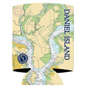 Altered Latitudes Daniel Island Chart Standard Can Cooler (4-Pack)