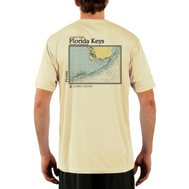 Coastal Classics Florida Keys Mens Upf 5+ Uv/sun Protection Performance T-Shirt Pale Yellow / X-Small Shirt