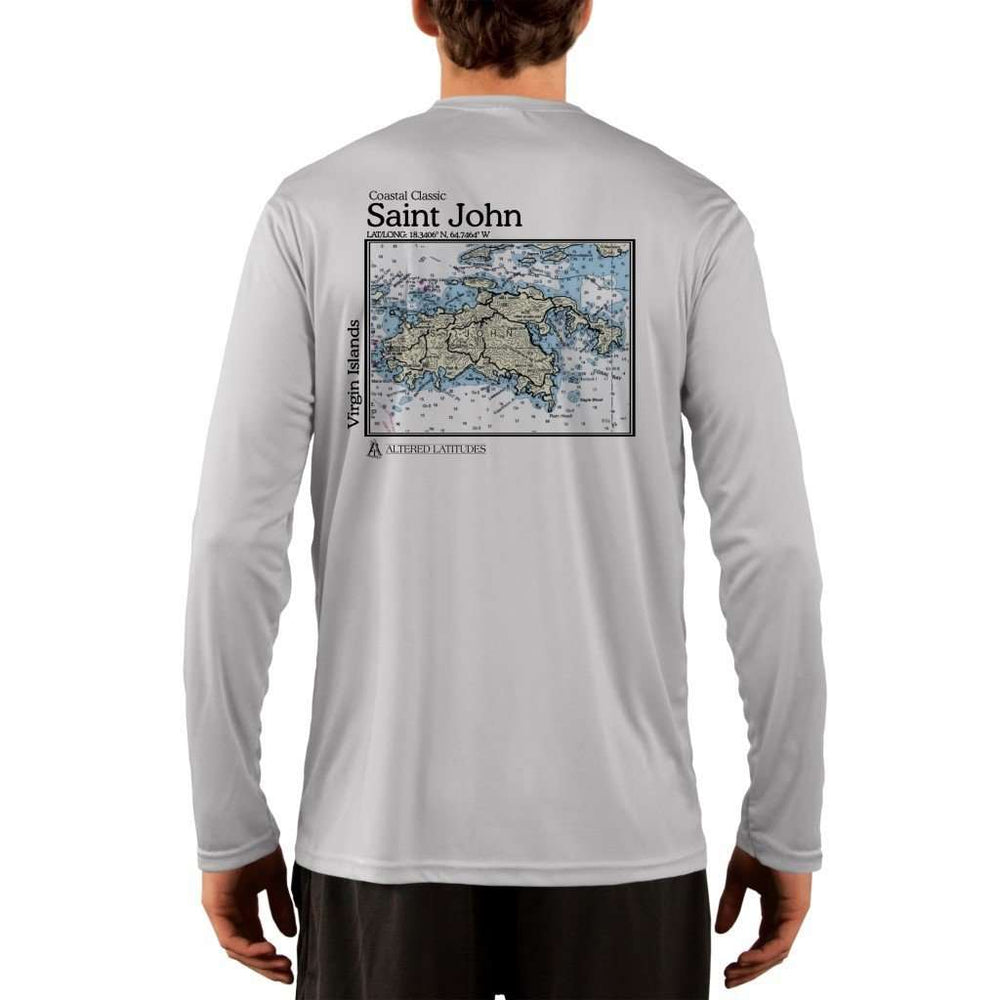 Coastal Classics Saint John Mens Upf 5+ Uv/sun Protection Performance T-Shirt Pearl Grey / X-Small Shirt