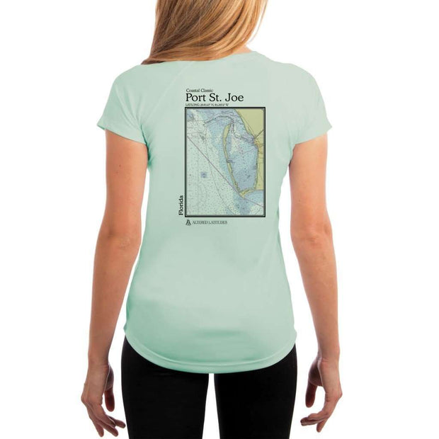 Coastal Classics Port St. Joe Womens Upf 5+ Uv/sun Protection Performance T-Shirt Seagrass / X-Small Shirt