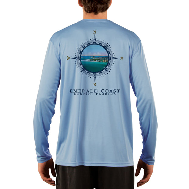 Compass Vintage Emerald Coast Men's UPF 50+ Long Sleeve T-Shirt