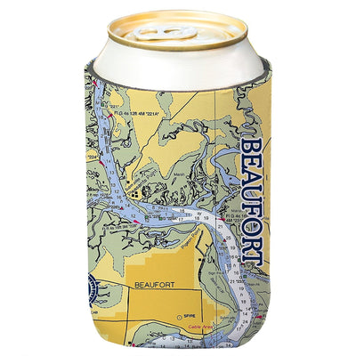Altered Latitudes Beaufort, SC Chart Standard Can Cooler (4-Pack)