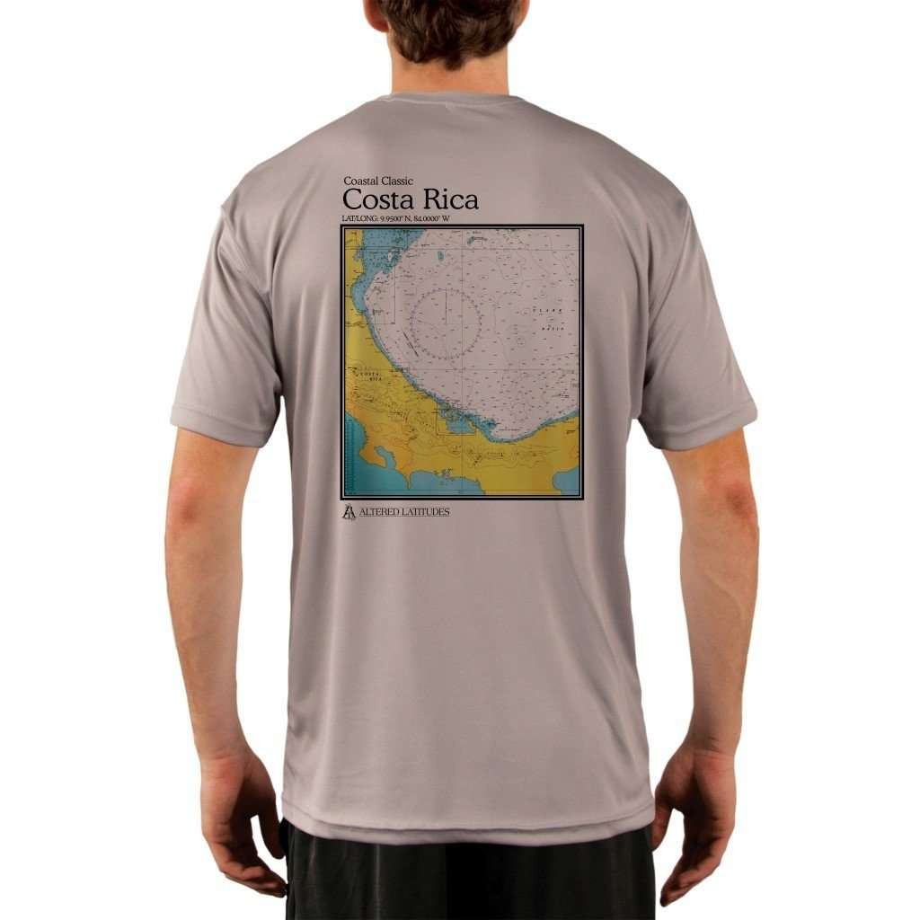 Coastal Classics Costa Rica Mens Upf 50+ Uv/sun Protection Performance T-Shirt Athletic Grey / X-Small Shirt