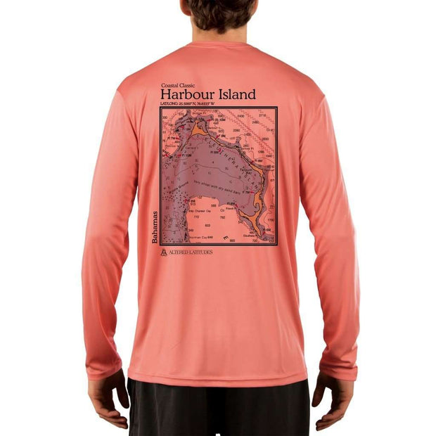 Coastal Classics Harbour Island Mens Upf 5+ Uv/sun Protection Performance T-Shirt Salmon / X-Small Shirt