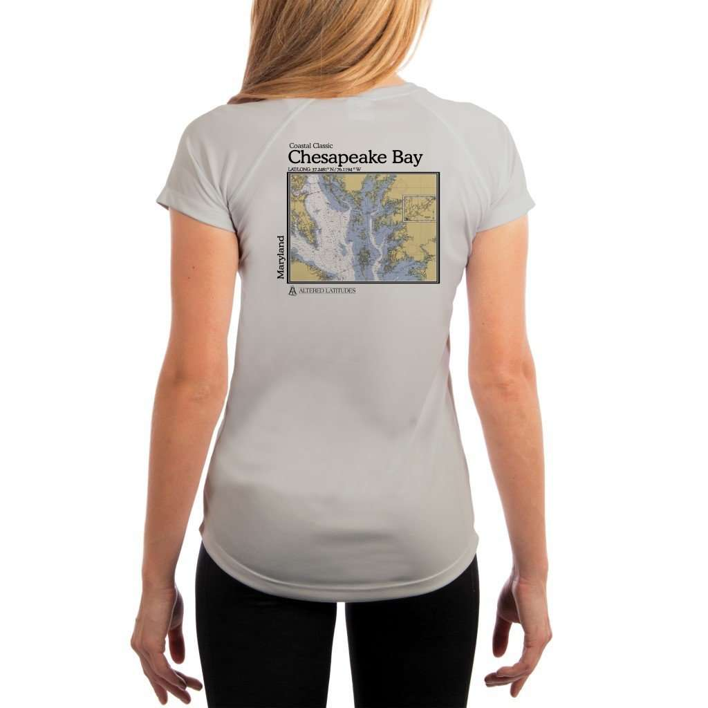 Coastal Classics Chesapeake Bay Womens Upf 50+ Uv/sun Protection Performance T-Shirt Pearl Grey / X-Small Shirt