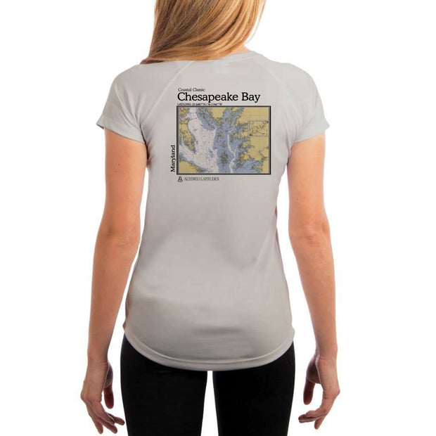 Coastal Classics Chesapeake Bay Womens Upf 5+ Uv/sun Protection Performance T-Shirt Pearl Grey / X-Small Shirt