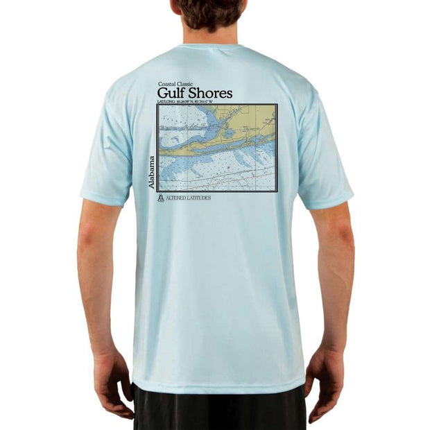 Coastal Classics Gulf Shores Mens Upf 5+ Uv/sun Protection Performance T-Shirt Arctic Blue / X-Small Shirt